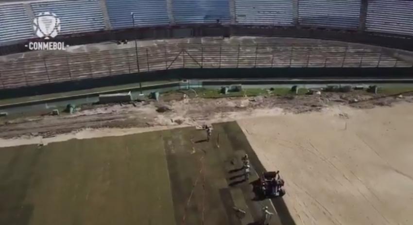 (VIDEO) Así se prepara el estadio Centenario para recibir la final única en 2021