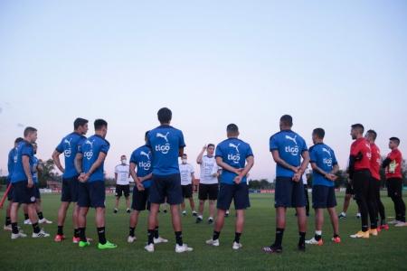 (FOTO) Luis Amarilla entrenó con la Selección de Paraguay