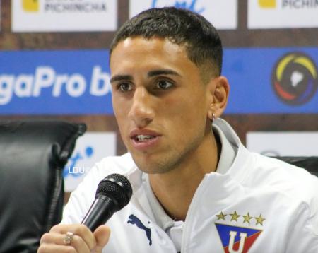 """Santiago Scotto en su presentación con Liga de Quito: """"Queremos ganar la Sudamericana"""""""