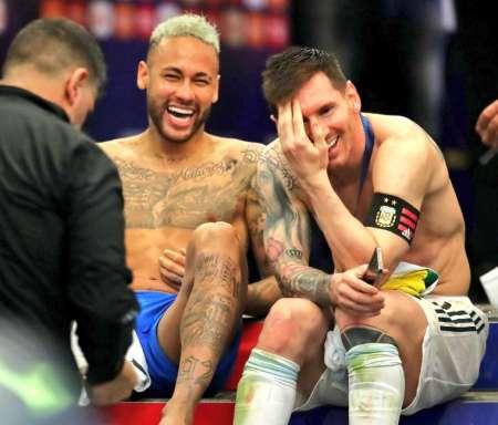 La historia detrás de la conversación que tuvieron Messi y Neymar al término de la final de la Copa América