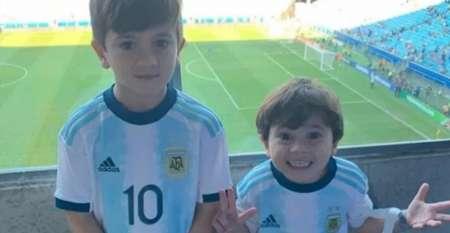 (FOTO) La celebración de los hijos de Messi tras la goleada ante Ecuador