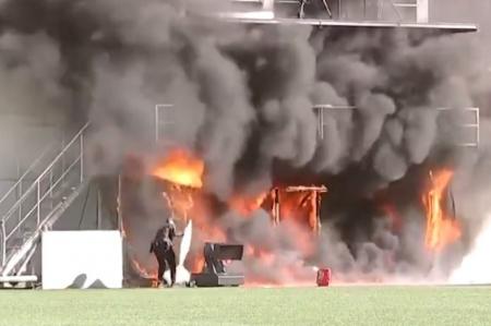 (VIDEO) Incendio en el estadio donde Andorra jugará contra Inglaterra por Eliminatorias de Europa