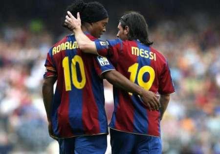 (VIDEO) Así fue el reencuentro de Messi y Ronaldinho