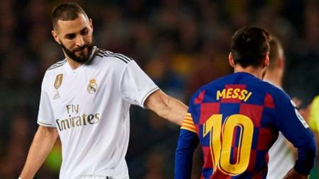 (FOTO) La reacción viral de Benzema tras la salida de Messi del Barça