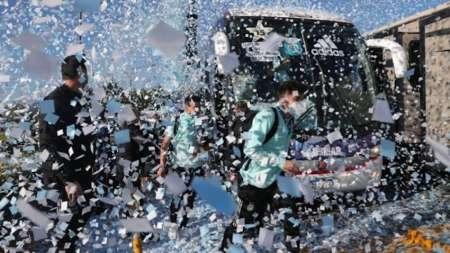 Una multitud recibió a Argentina tras ganar la Copa América