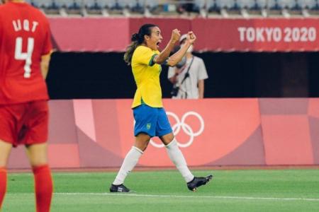 Marta, primera futbolista en anotar en cinco Juegos Olímpicos consecutivos