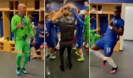 (VIDEO) Los festejos de Chelsea en los camerinos tras conquistar la Champions