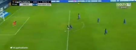 (VIDEO) Ángelo Quiñónez remató y el palo impidió el gol de Guayaquil City