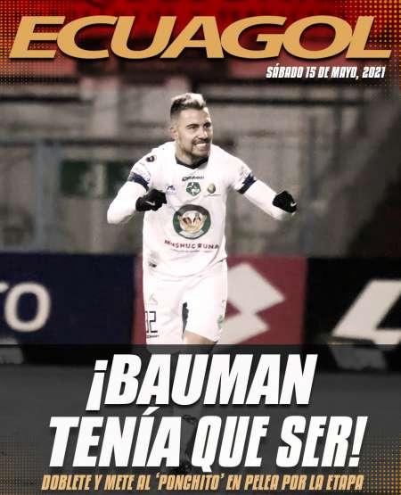 Doblete de Bauman, victoria de Mushuc Runa ante Deportivo Cuenca