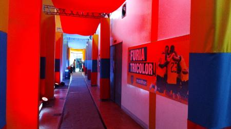 (VIDEO) Camerinos del Monumental personalizados para el partido de Ecuador
