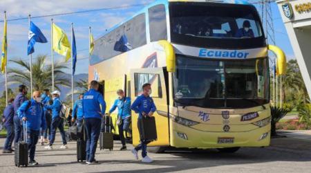 (VIDEO) Así fue la llegada de la Selección de Ecuador al Estadio Monumental