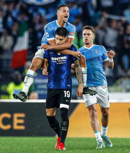 Inexplicable final en el Lazio-Inter: Victoria local con expulsión y goles