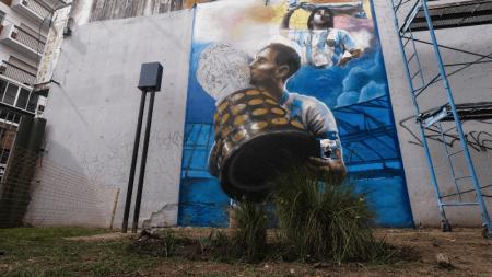 Conmebol destaca nuevo mural homenaje al reciente título de Argentina