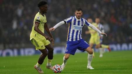 Jeremy Sarmiento suplente en el empate del Brighton