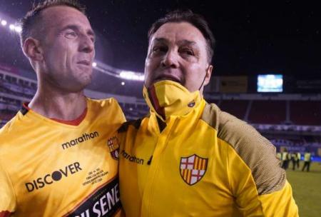 (FOTO) Alfaro Moreno dejó un mensaje a los hinchas tras eliminación de Barcelona