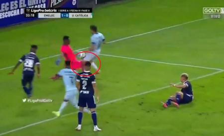 (VIDEO) El penal de Pedro Ortíz que le costó el gol a Emelec ante Universidad Católica